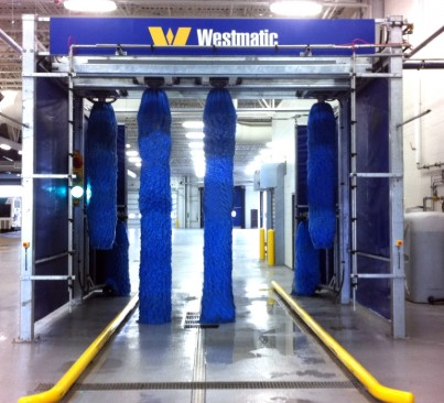 6-Brush Drive-Through Bus Wash